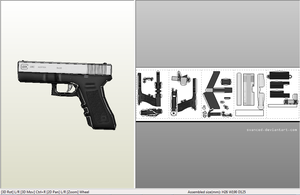 Easy Glock18c Papercraft + DOWNLOAD by svanced