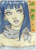 ACEO: Casual Hinata by amazonitte