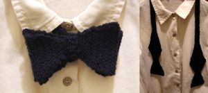 Crocheted Bow Tie by thanxforthefish