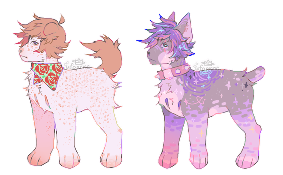 1/2 open!!! |ADOPTABLES by poqq
