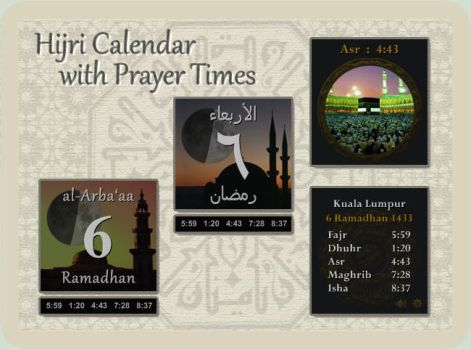 Hijri Calendar / Prayer Times by Mordasius
