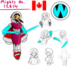 OC Mighty Number: Mighty No. 12614 (Crya) by SnowmanEX711