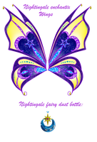 Nightingale enchantix wings and fairy dust bottle by Cristalinawinx