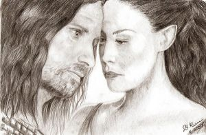 Aragorn and Arwen2 by Elfik777