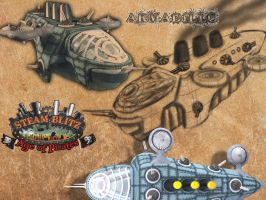 SteamPlanes Armadillo by Samuel-Paul