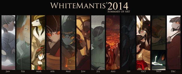 2014 Summary of Art by White-Mantis