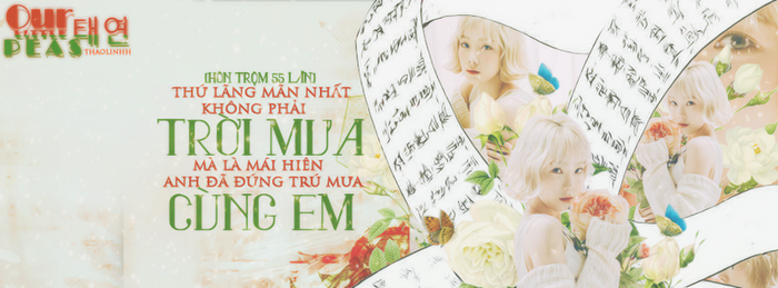[040117] COVER QUOTE KIM TAEYEON - OUR LITTLE PEAS by Thaolinhh