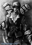 Wolfwood in charcoal by Starfeather
