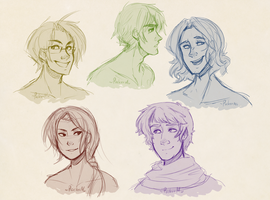 Hetalia heads by Traversini