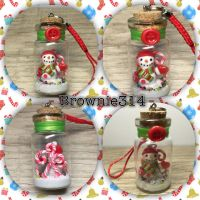 Frosty the Snow Man bottle charm by Brownie314