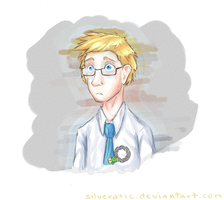 Human Wheatley Doodle by Silveratic