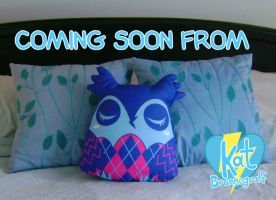 Argyle Owl Pillow-Plush by fuish