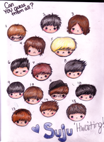 Suju Hwaiting Can you name them all? by NinjaaPoptart