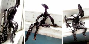 Xenomorph ball-joint doll by Obman-Veschestv