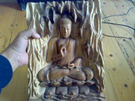 Wooden Buddha 1 by MadwidA