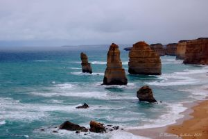 The Twelve Apostles, Australia by bonfirelights