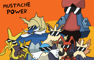 mustache pokemon by DOR20