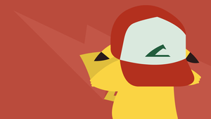 Pikachu wearing Ash's hat by sk8termike