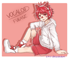 Casual Fukase with Cat Headphones by ShirazukiOkami
