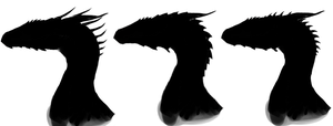 Silhouetting character designs by StarDragon102