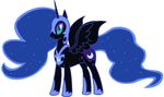 Nightmare moon by maverickmam