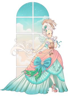 Marie-Antoinette fashion show by Chpi