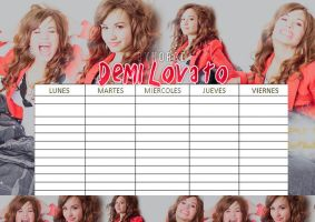 Horario Demi Lovato #01 by Norgelys