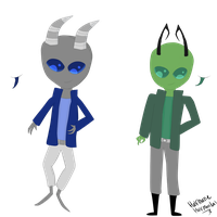 Auction: Vortian and Irken Adopts. (Closed) by HalfInane-HalfMental