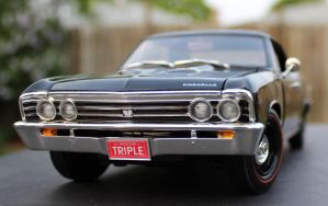 Black 67 Chevelle by boogster11