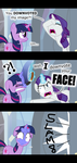 Comic: Rarity's reaction to a downvote by ZuTheSkunk