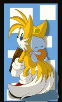 Tails and a Chao -ArkOfAnAngel by TailsFanclub