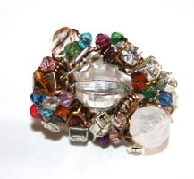 Vintage Beaded Wire Ring by FranyaBlue