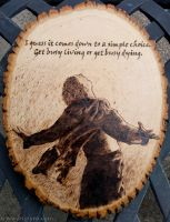 Shawshank Redemption + quote - Wood burning by brandojones