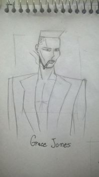 Quick Sketch - Grace Jones by Rafagafanhotobra
