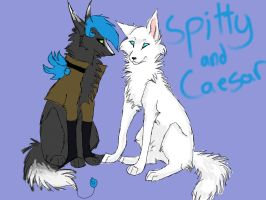 Spitty and Caesar by GoodOldBaz
