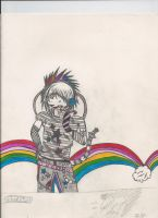 rainbow kid by saintjimmypalmer