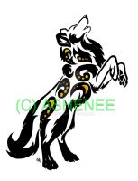 ::standing dog tribal:: by Ashenee