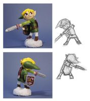 Toon Link Statue by lostie815