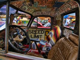 Rat Rod interior by zentraveler