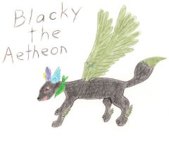 Blacky the Aetheon by DragonRuby