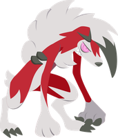 LYCANROC - LUGARUGAN MIDNIGHT FORM by Alexalan
