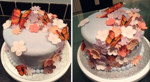 Floral Butterfly Cake by betty002