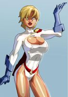 Power Girl Strikes a Pose by morganagod