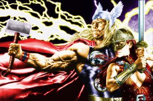 Thor  by Anacleto color by TMD by DONAHUE-t
