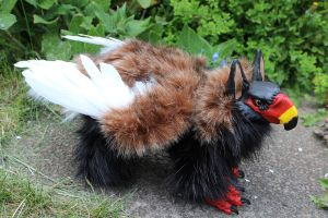 Barrek the Bateleur Griffin Artdoll by Creature-Cave