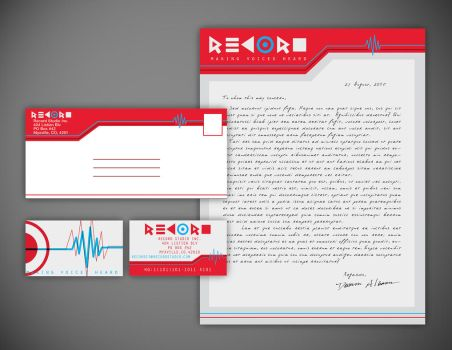 Record Studios Stationery by Lobsterbeef