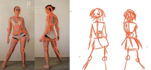 Character Design: Gesture Drawing by mizuki008