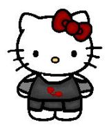 Emo Hello Kitty by TheCrazedYukiFanatic