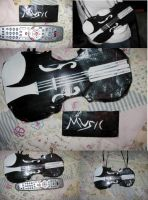Violin Duct Tape bag by giggy28