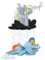 Derpy and Dash by norang94